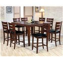 Acme Furniture 00680 Counter Height Leg Table - Shown with Coordinating Counter Height Chairs