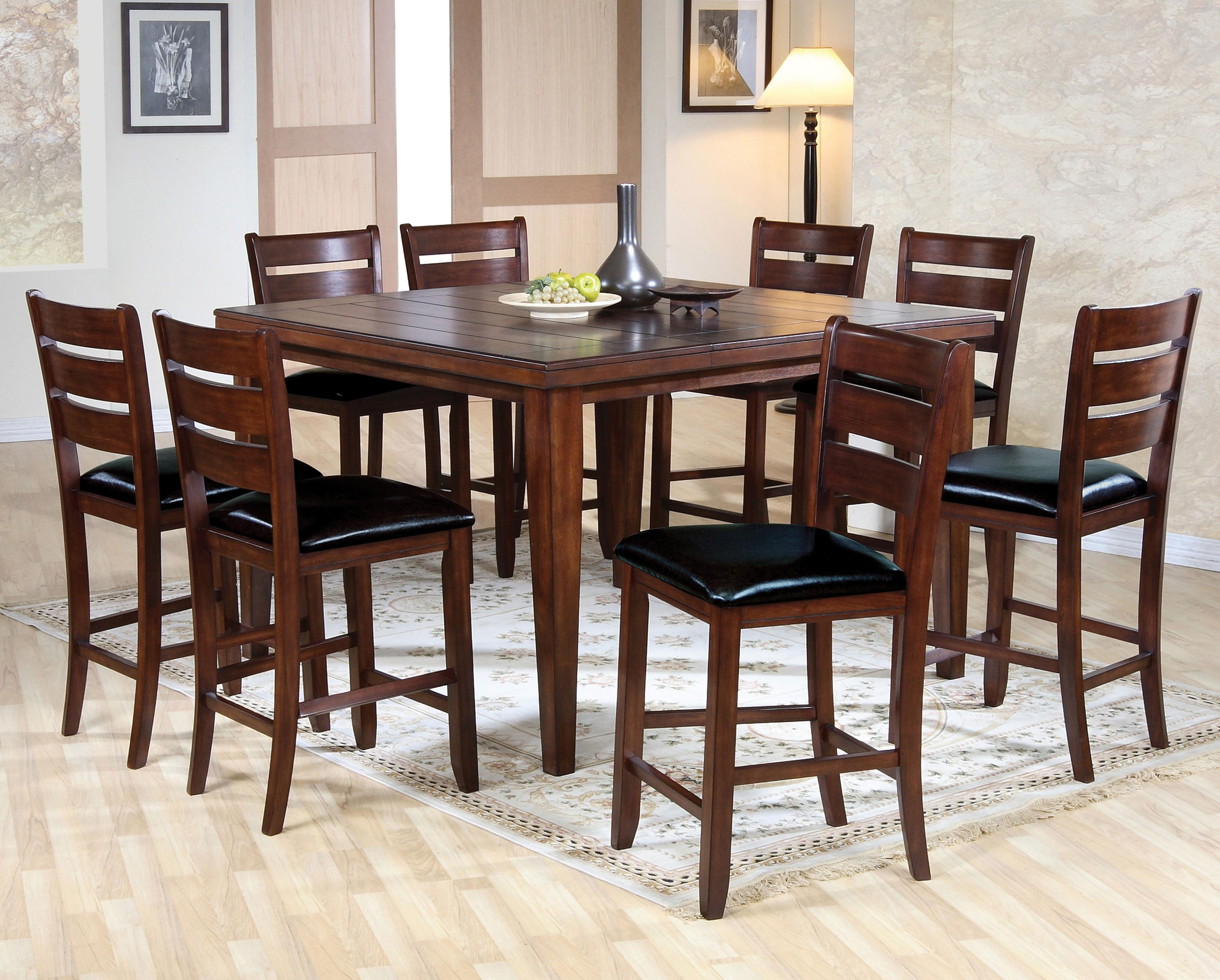 Acme Furniture 00680 Counter Height Dining Set - Item Number: 0682+8x0682
