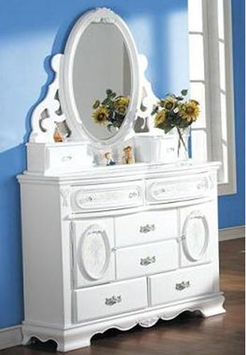 Acme Furniture 01660 Dresser and Mirror - Item Number: 01665+64