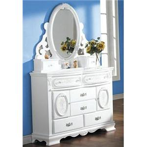 Acme Furniture Flora Door Dresser w/ Mirror