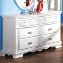 Acme Furniture Flora Dresser (Drw) - Item Number: 01685