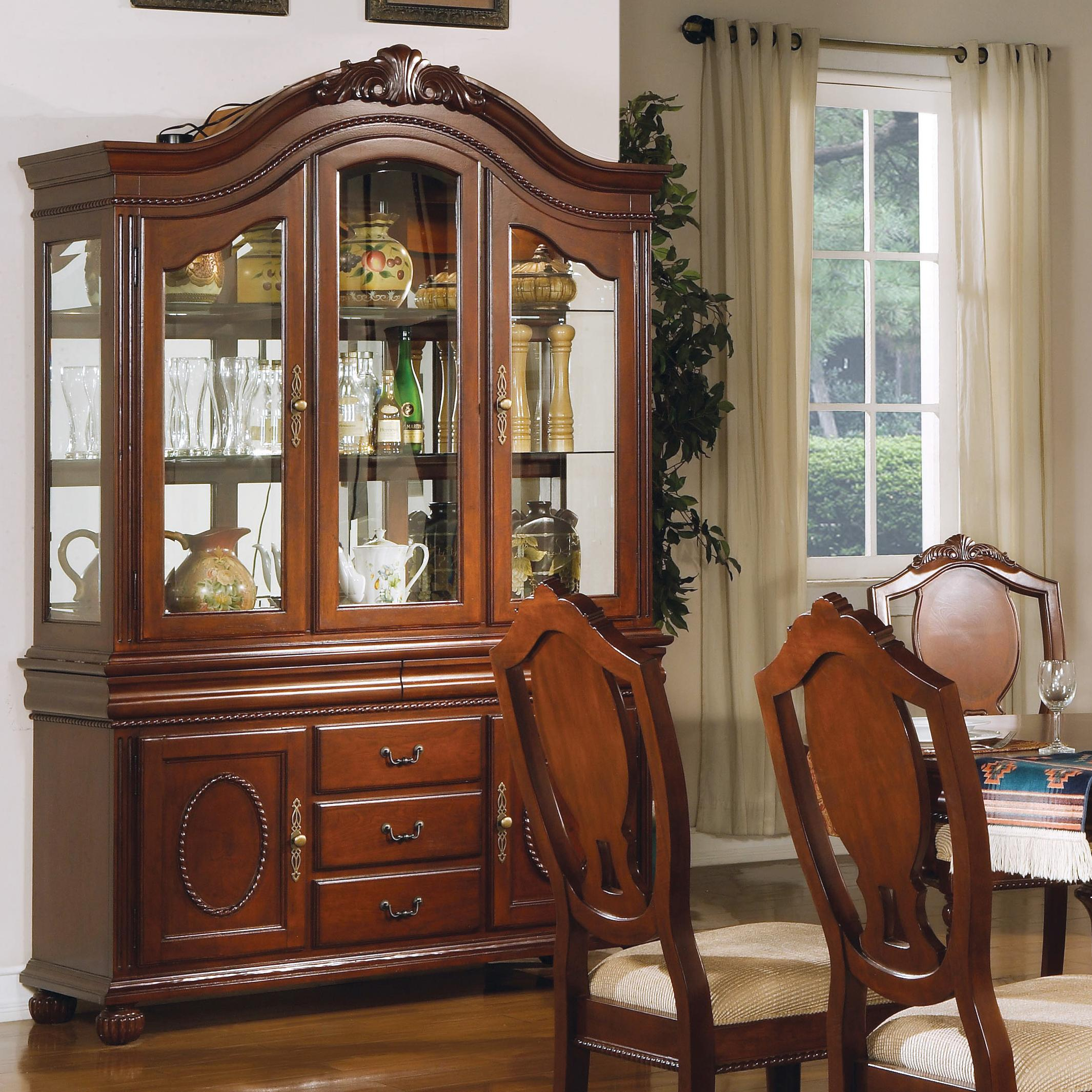 Acme Furniture 11800 Buffet and Hutch - Item Number: 11835H+11835B