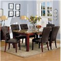 Acme Furniture 7045 Bologna 7 Piece Dining Set - Item Number: 7045+6x7046
