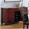 Acme Furniture 7045 Server with Marble Top