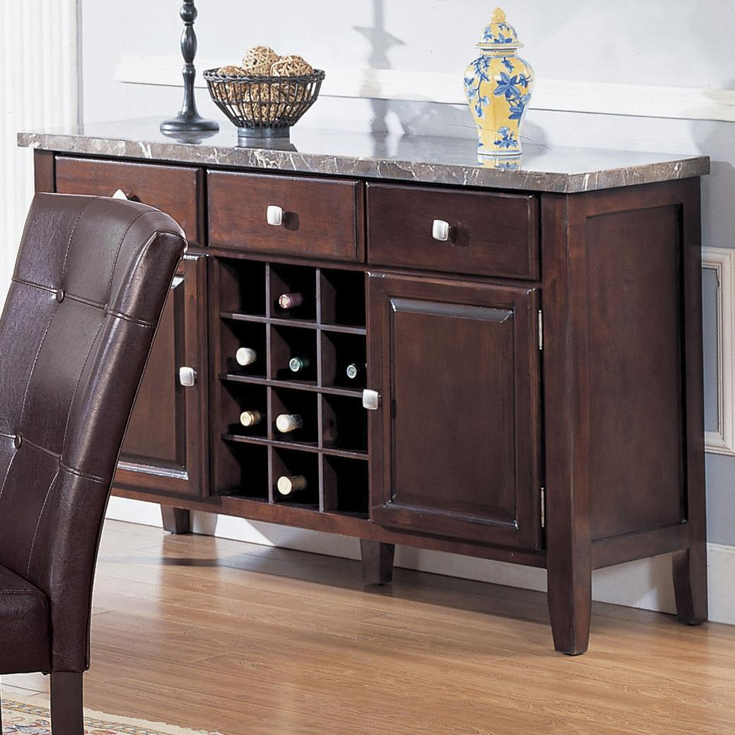 7058 Server with Marble Top by Acme Furniture at A1 Furniture & Mattress