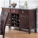 Acme Furniture 7058 Server with Marble Top - Item Number: 7057