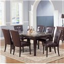 Acme Furniture 7058 Seven Piece Dining Set - Item Number: 7058+6x7054