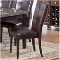 Acme Furniture 7058 Danville Black Marble Top Seven Piece Dining Set - Bycast Side Chair