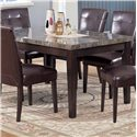 Acme Furniture 7058 Danville Black Marble Top Seven Piece Dining Set - Black Marble Top Dining Table