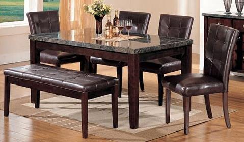 6 Piece Dining Table, Chair and Bench Set