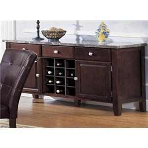 Acme Furniture Canville 07057 Espresso Buffett Server With Marble Top |  Furniture Superstore   NM | Buffet