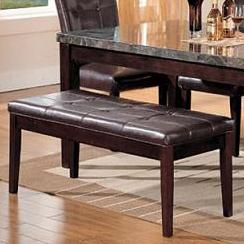 Acme Furniture Canville Bicast Upholstered Bench