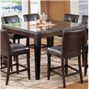 Acme Furniture Canville Canville Marble Top Counter Height Table Set - Counter Height Table