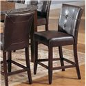 Acme Furniture Canville Canville Marble Top Counter Height Table Set - Counter Height Chairs