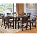 Acme Furniture Canville Canville Marble Top Counter Height Table - Shown with Coordinating Counter Height Chairs
