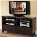 Acme Furniture 7093 Black Marble Top Entertainment Console Set - Item Number: 07093 SET