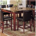 Acme Furniture 7380 Bologna 9 Piece Counter Height w/ Marble Top Table Set - Bologna Counter Height Table