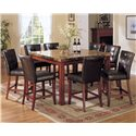 Acme Furniture 7380 Bologna Counter Height Table with Marble Top  - Shown with Coordinating Counter Height Chairs