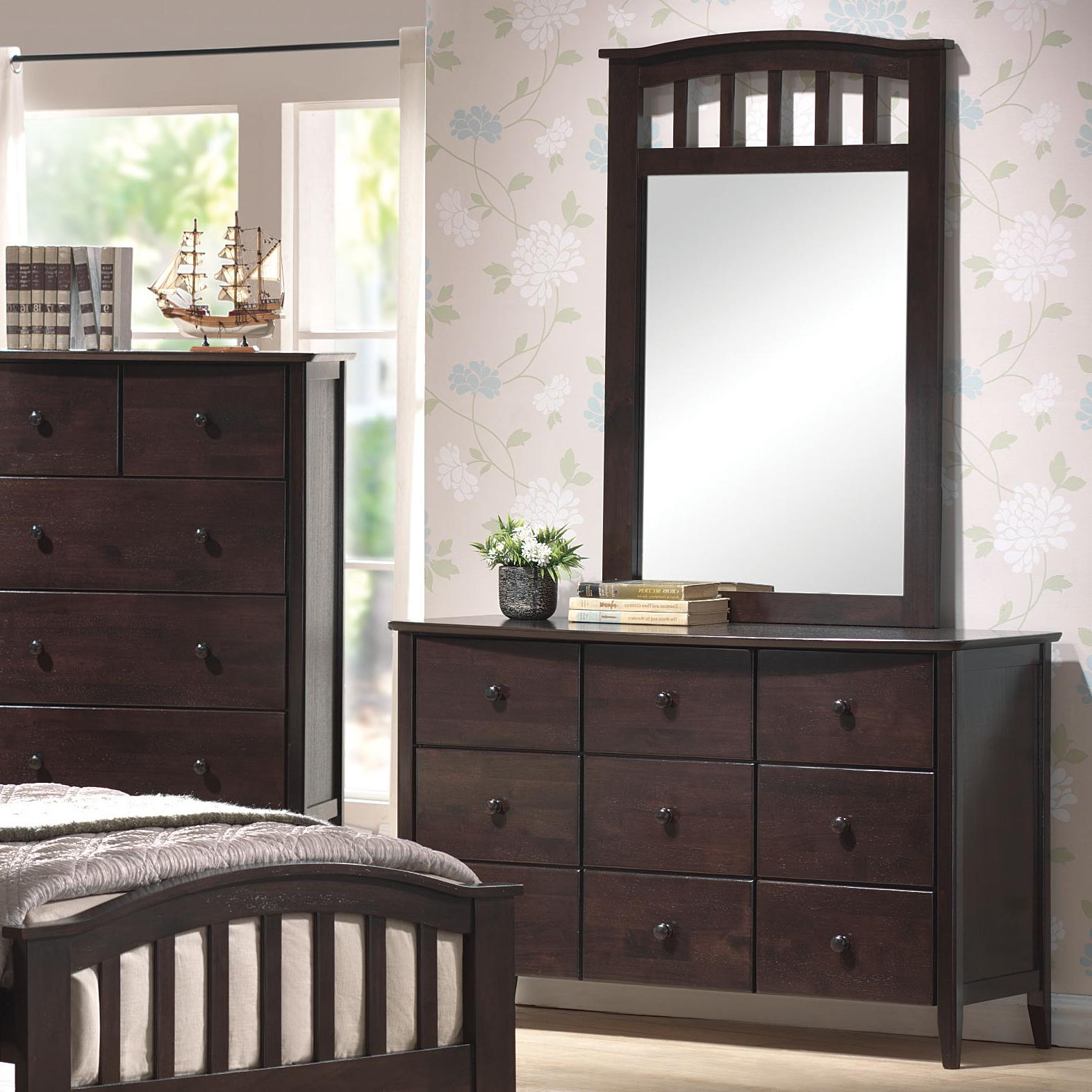 San Marino Dresser & Mirror Combo by Acme Furniture at Dream Home Interiors