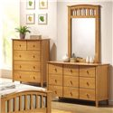 Acme Furniture San Marino Slatted Dresser Mirror - Shown with Dresser