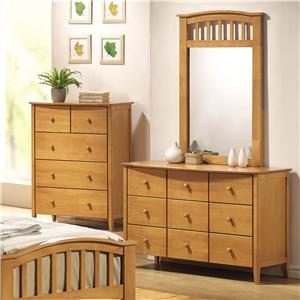 Acme Furniture San Marino Dresser & Mirror Combo