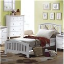 Acme Furniture San Marino Twin Slatted Headboard & Footboard Bed - Bed Shown May Not Represent Size Indicated