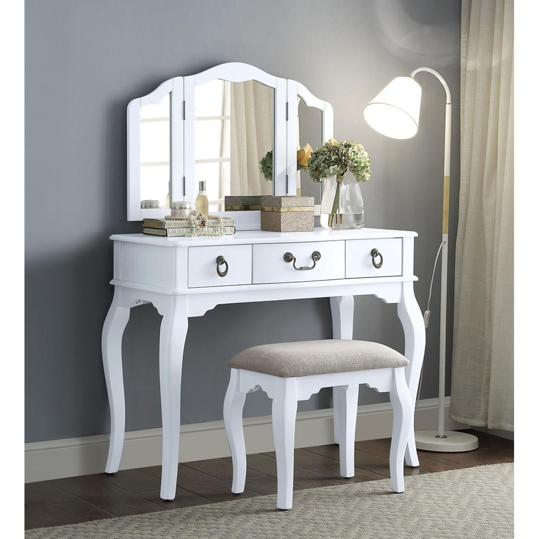 Abelus Vanity Set by Acme Furniture at Dream Home Interiors