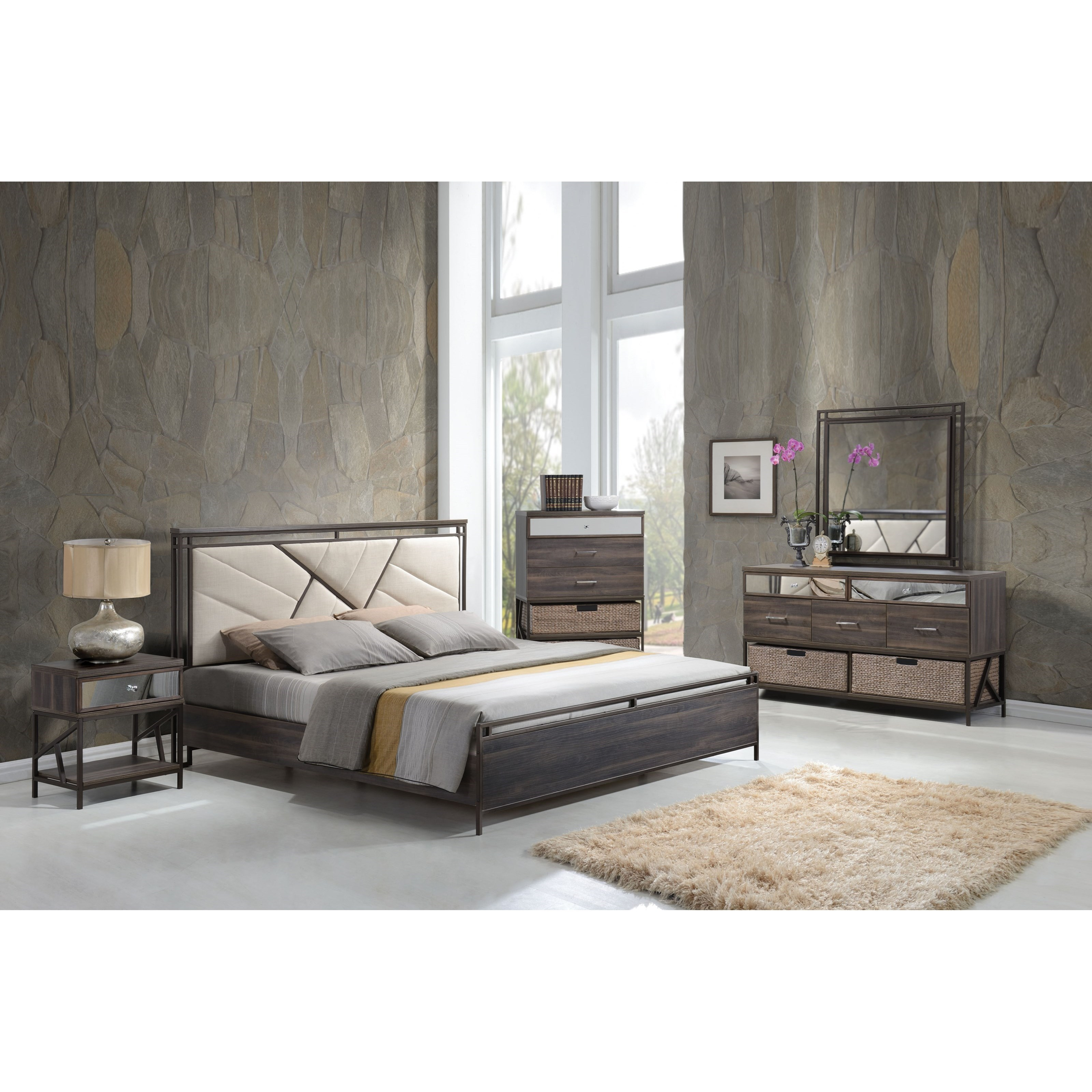 Adrianna California King Bedroom Group by Acme Furniture at A1 Furniture & Mattress