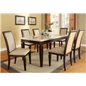 Acme Furniture Agatha 7-Piece Dining Set - Item Number: 70480+6x70487