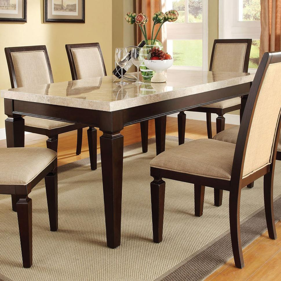 Acme Furniture Agatha 70480 Dining Table With Marble Top