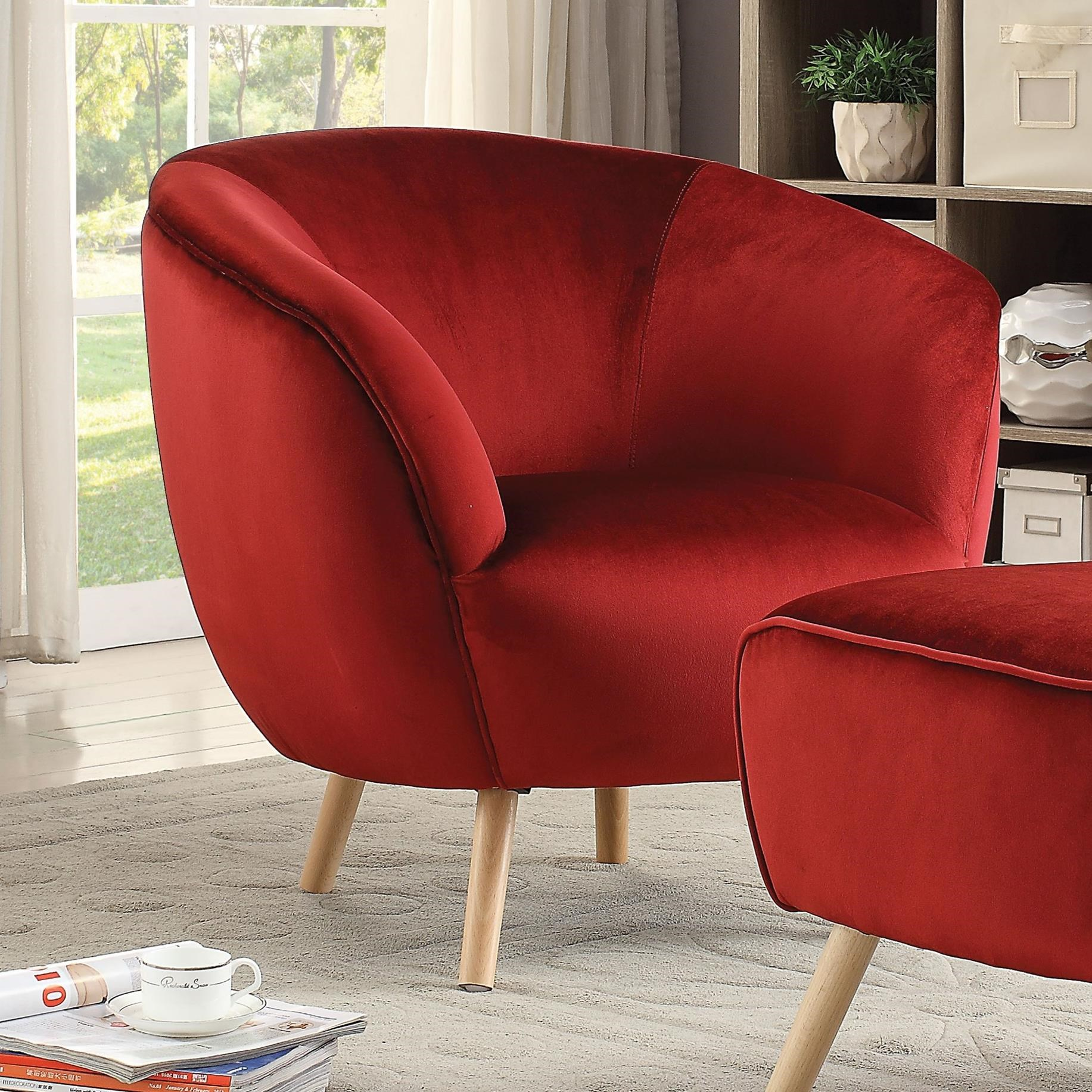 Aisling Accent Wing Chair by Acme Furniture at Carolina Direct