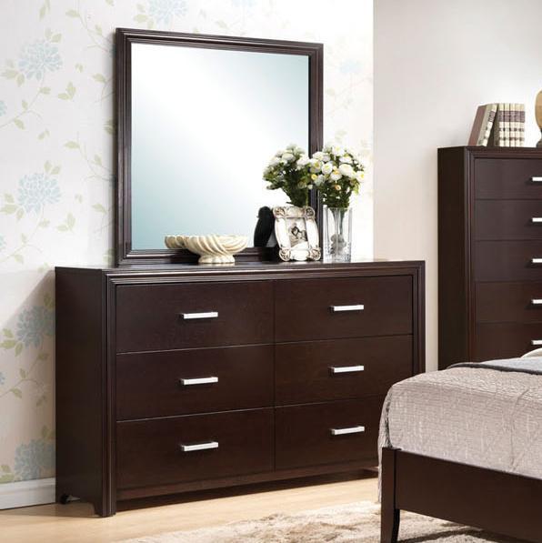Acme Furniture Ajay Dresser & Mirror - Item Number: 21435+34