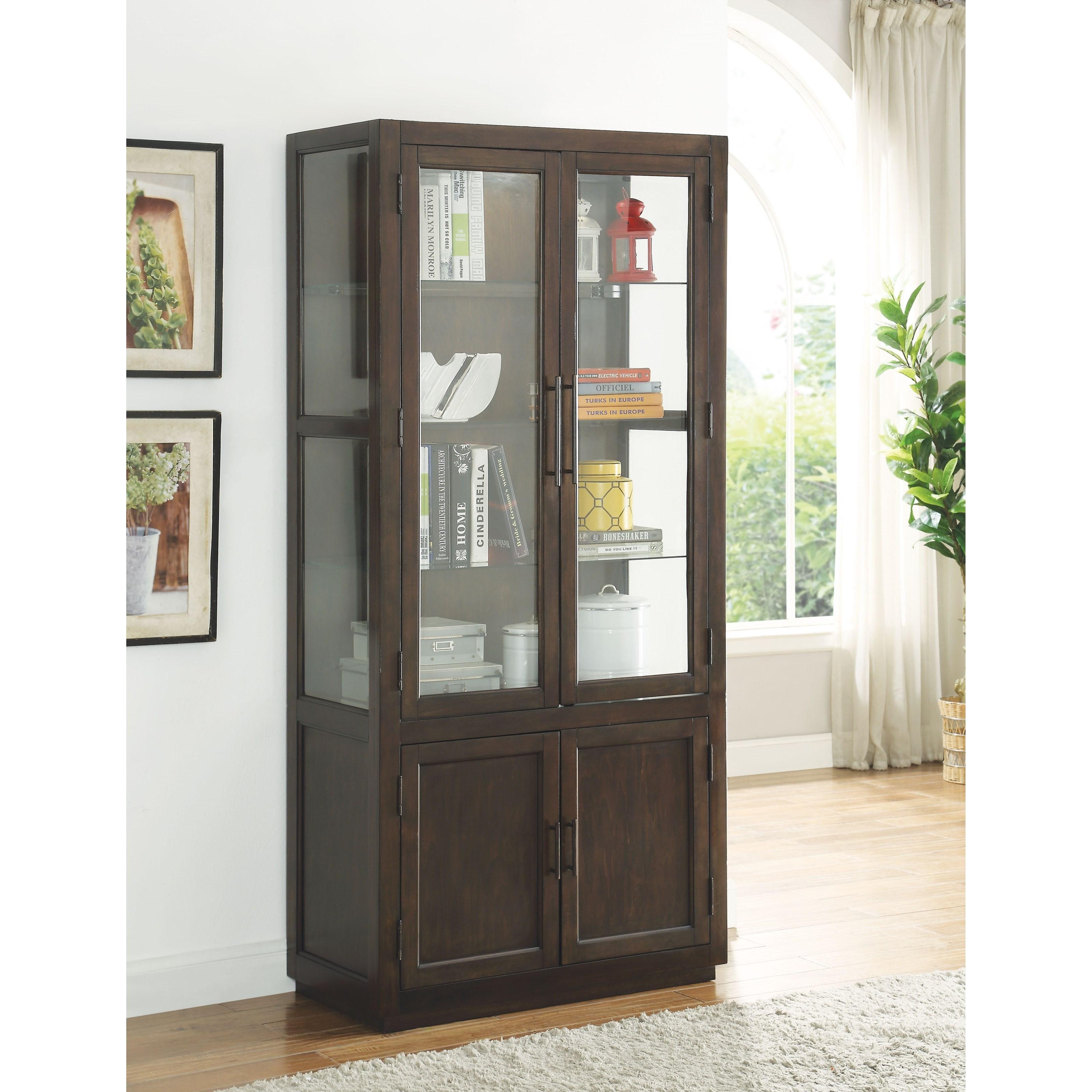 Alanus Curio Cabinet by Acme Furniture at A1 Furniture & Mattress