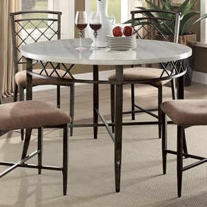 Cool Acme Furniture Aldric Metal Dining Table With Faux Marble Pdpeps Interior Chair Design Pdpepsorg