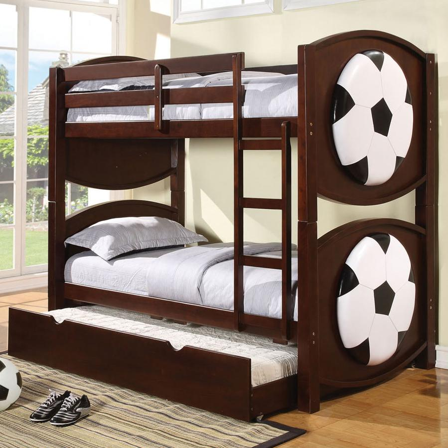 Acme Furniture All Star 11954 Sports Themed Soccer Bunkbed Decor