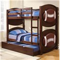 Acme Furniture All Star Casual Youth Sized Trundle Bed - Shown with Coordinating Bunk-Bed Set