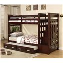 Acme Furniture Allentown Storage Bunkbed with Trundle - Item Number: 10170