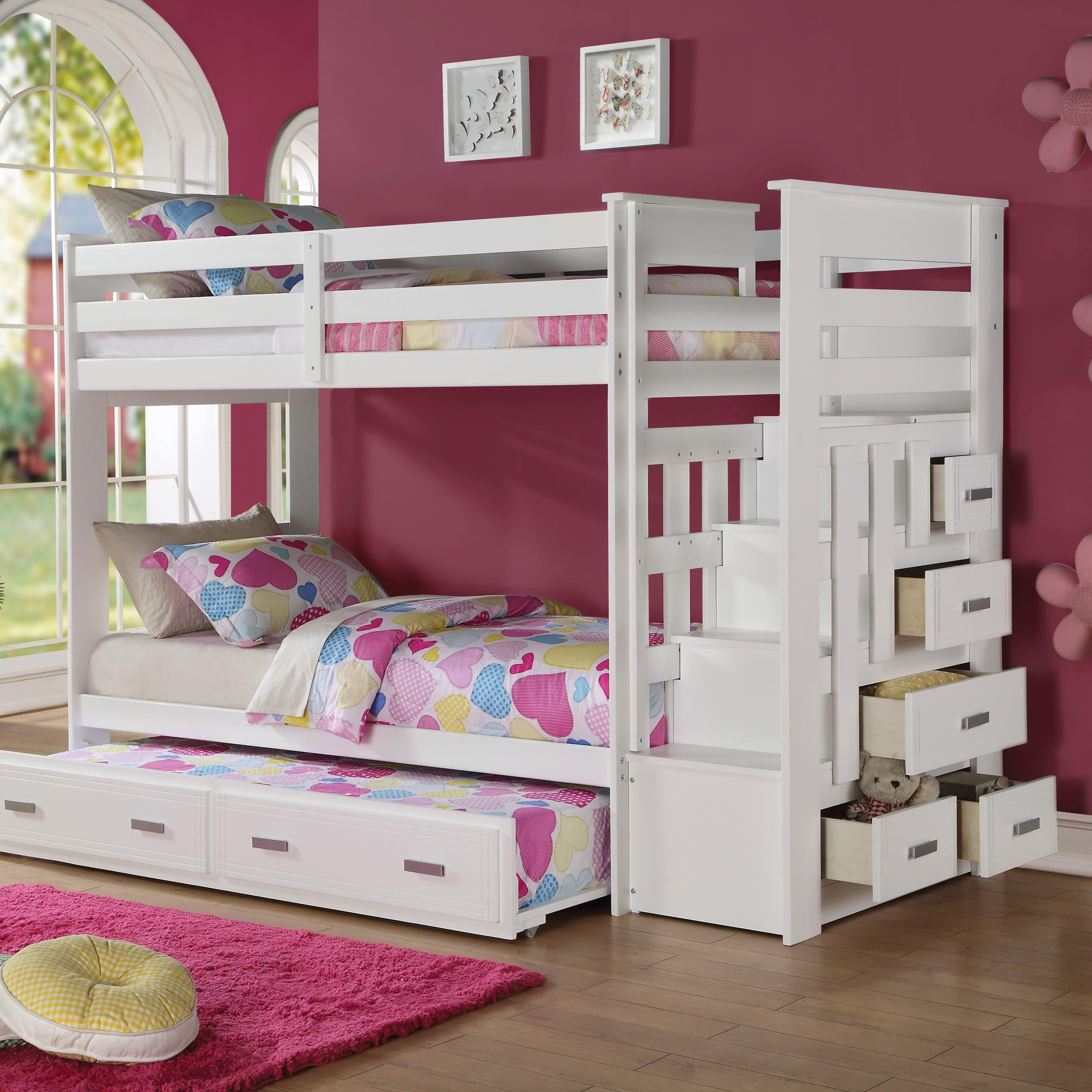 Storage Bunkbed with Trundle