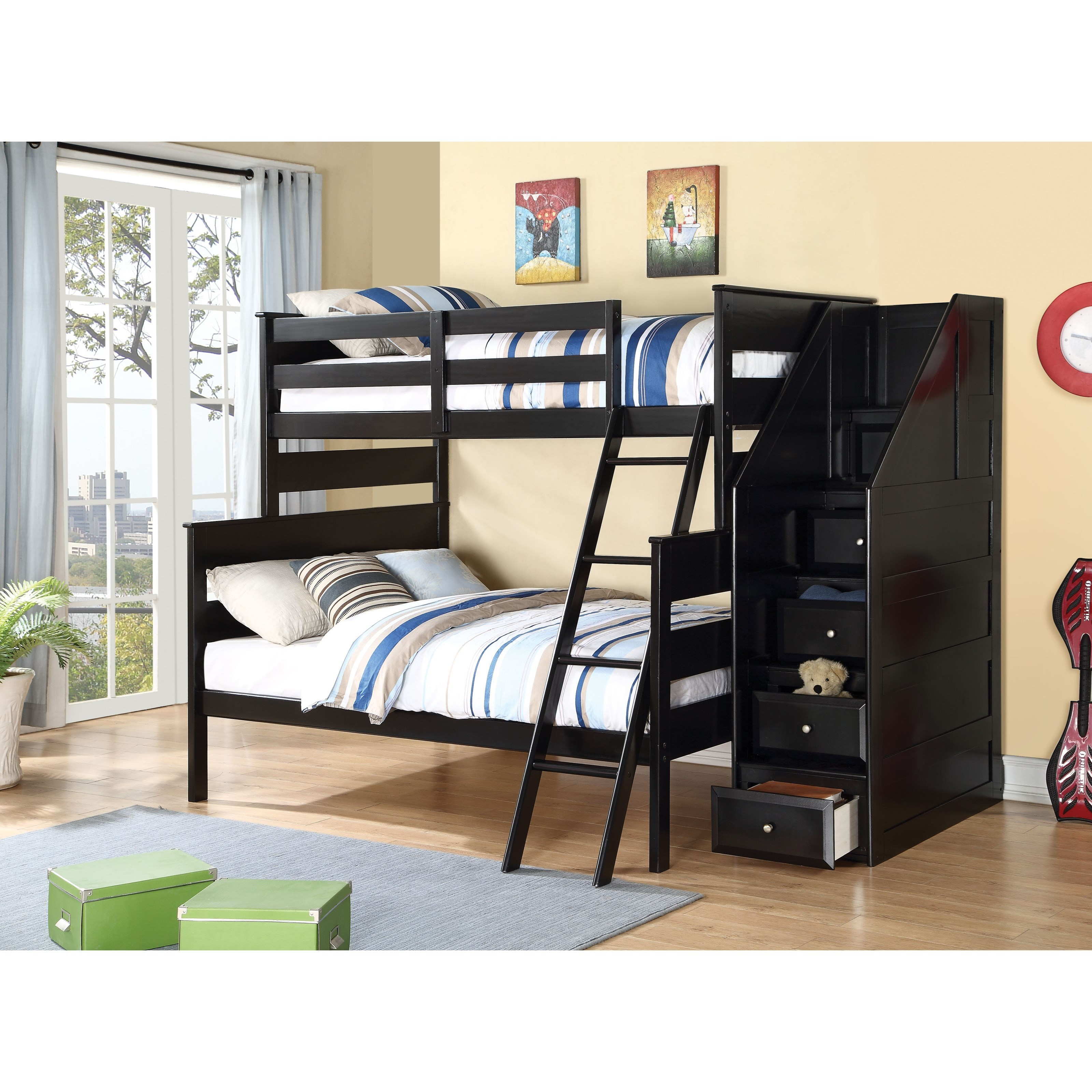 Alvis Full over Twin Bunk Bed by Acme Furniture at Carolina Direct