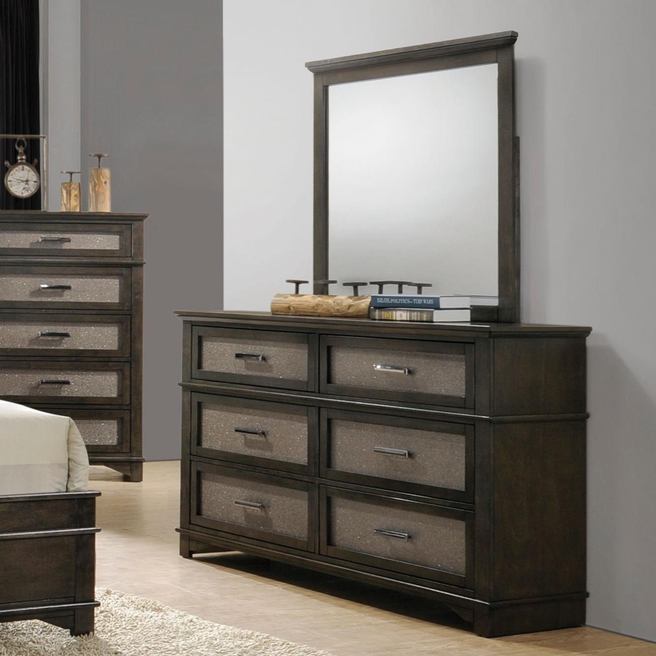 Anatole Dresser + Mirror Set by Acme Furniture at Carolina Direct