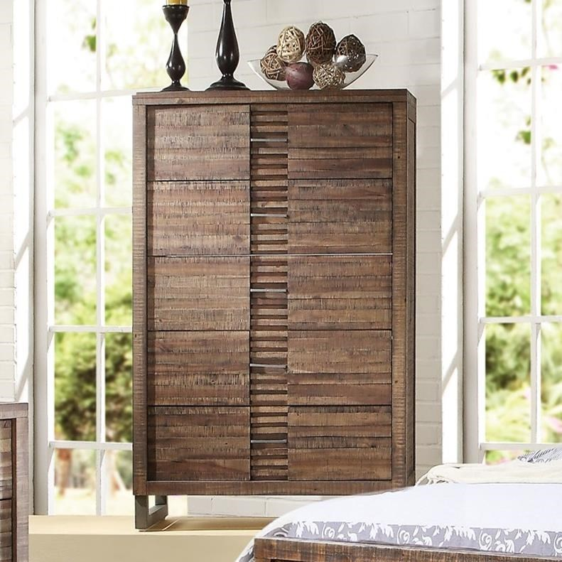 Andria 5 Drawer Chest  by Acme Furniture at Carolina Direct