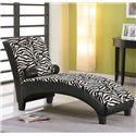 Acme Furniture Anna Zebra Zebra Pu Lounge Chaise - Item Number: 96139