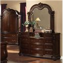 Acme Furniture Anondale Traditional Dresser-top Mirror - Shown with Dresser