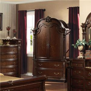 Acme Furniture Anondale 10317 Traditional Media Armoire Del Sol