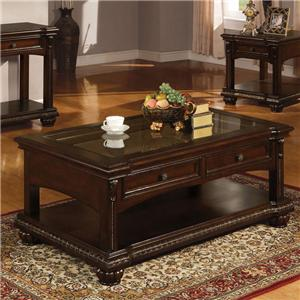 Acme Furniture Anondale Traditional Coffee Table