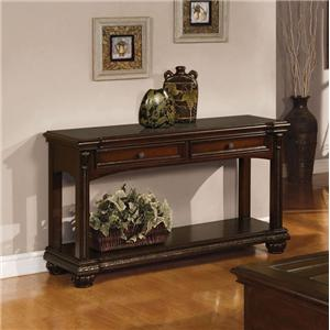 Acme Furniture Anondale Traditional Sofa Table W Gl Dream Home Tables Consoles
