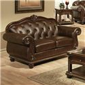 Acme Furniture Anondale Cherry Top Grain Leather Loveseat - Item Number: 15031