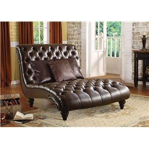 Acme Furniture Anondale Traditional Chaise Lounge