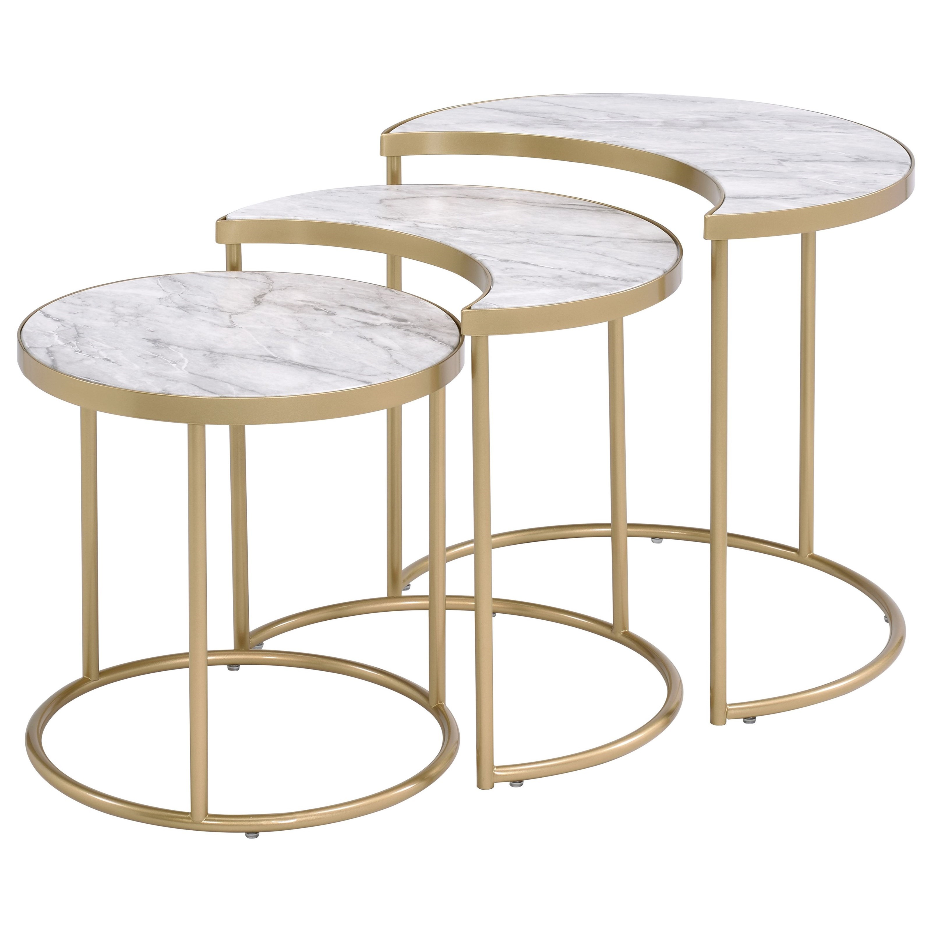 Anpay 3Pc Pack Nesting Tables by Acme Furniture at Carolina Direct