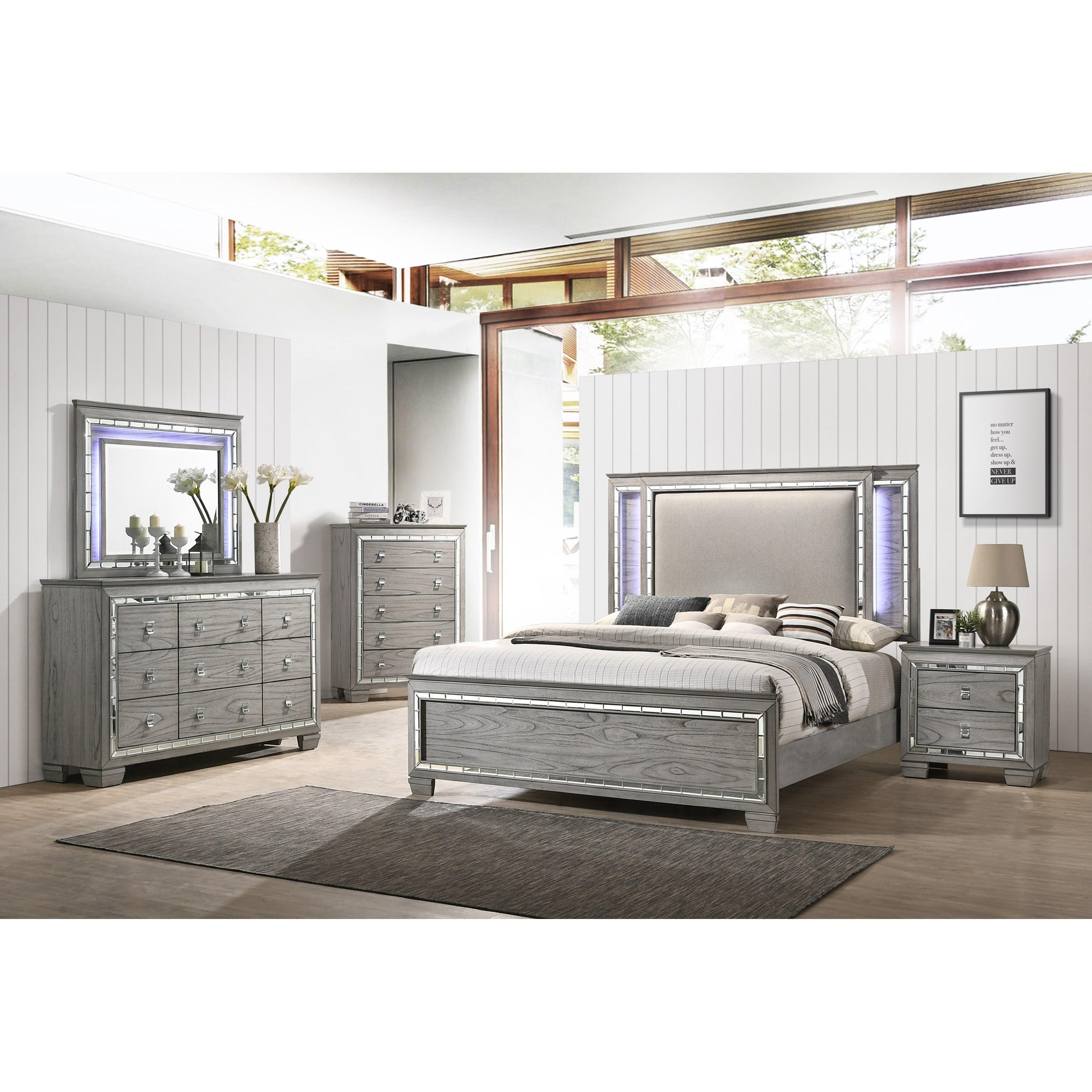 Antares King Bedroom Group by Acme Furniture at Carolina Direct